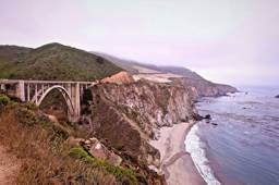 Highway Along the Coast in Big Sur