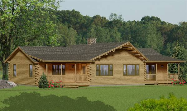 Katahdin Log Home from Katahdin Cedar Log HOmes